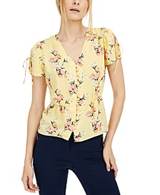 Floral-Print Split-Sleeve Top, Created for Macy's