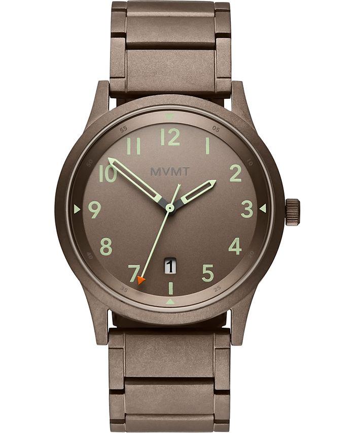 MVMT - Men's Field Taupe Stainless Steel Bracelet Watch 41mm