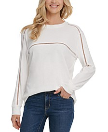 Cutout-Trim Crewneck Sweatshirt