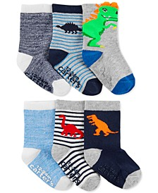Toddler Boys 6-Pk. Dinosaur Crew Socks