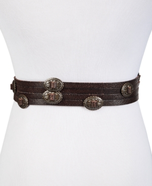 Concho Swag Leather Waist Belt