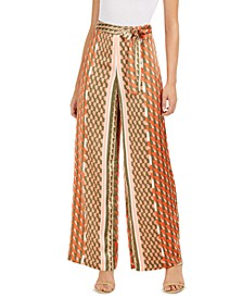 Geo-Print Tie-Waist Pants, Created for Macy's
