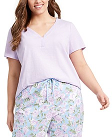 Plus Size Cotton Sleep T-Shirt, Created for Macy's