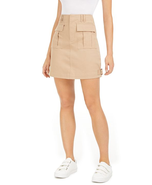 Bar III Cargo Mini Skirt, Created for Macy's