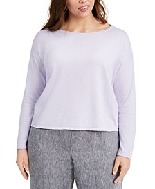Plus Size Boat-Neck Sweater