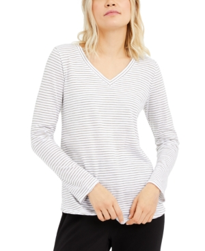 Eileen Fisher Cottons ORGANIC COTTON STRIPED TOP