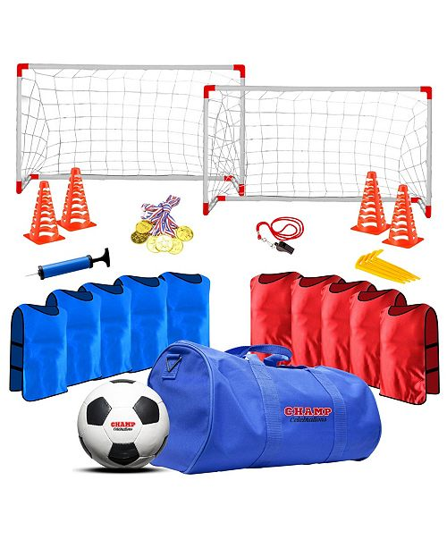 Champ Celebrations All-In-One Kids 12 Players Sports Soccer Practice Set