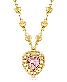 14K Gold-Dipped Swarovski Crystal Heart Pendant Necklace