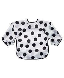 Baby Boys and Girls Polka Dot Full Sleeve Bib