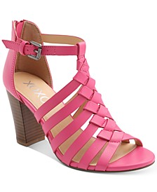 Baxter Strappy Block-Heel Sandals