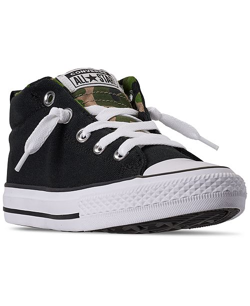Converse Little Boys Chuck Taylor All Star Street Mid Casual Sneakers from Finish Line