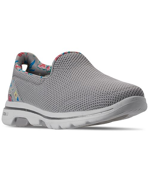 Women's GOWalk 5 Flowery Walking Sneakers from Finish Line