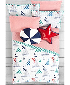 Kids Sailboat Bedding Set
