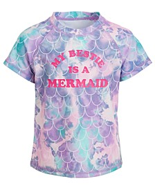 Little Girls Mermaid Short-Sleeve Rash Guard