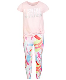 Big Girls Printed Twist-Front T-Shirt & High-Waist Leggings, Created for Macy's