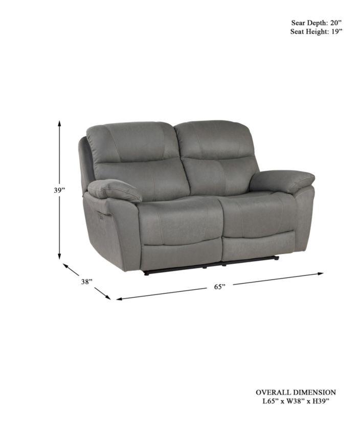 Furniture Ulrich Power Recliner Loveseat & Reviews - Furniture - Macy's
