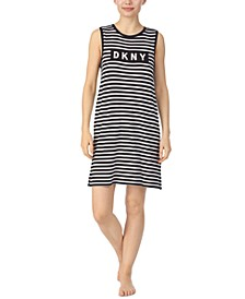 Striped Jersey Sleeveless Nightgown