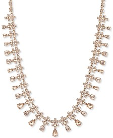 "Gold-Tone Crystal-Trim Collar Necklace, 16"" + 3"" extender"