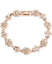 Rose Gold-Tone Crystal Cluster Flex Bracelet