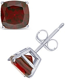 Gemstone Stud Earrings in Sterling Silver