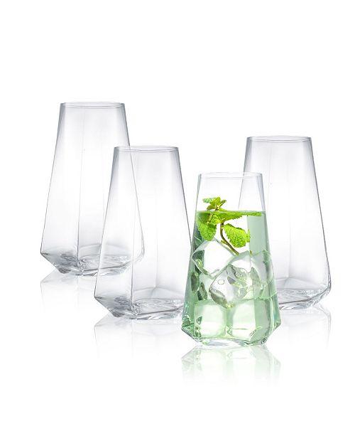 JoyJolt Infiniti Highball Glasses - Set of 4