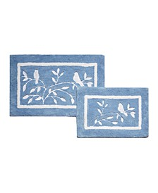 Birdie Blue 2-Pc Bath Rug Set