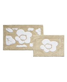 Chloe Floral 2-Pc Bath Rug Set