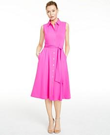 Tie-Waist Shirt Dress