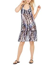 Leopard-Print Ruffle Cover-Up
