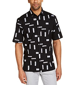Men's Classic-Fit Stretch Embroidered Shirt, Created for Macy's