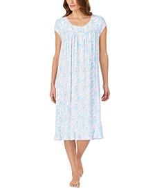 Floral-Print Waltz Nightgown