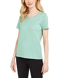 Paris Scalloped Top