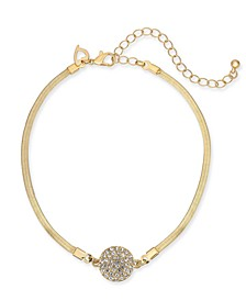 Gold-Tone Pavé Disc Ankle Bracelet, Created for Macy's
