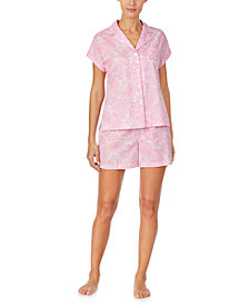 Lauren Ralph Lauren Printed Short-Sleeve Top & Shorts Pajama Set