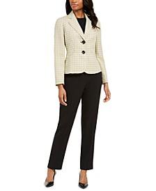 Petite Two-Button Notched-Collar Pant Suit