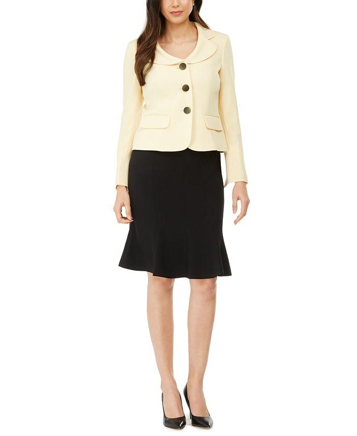 Le Suit - Flare-Hem Skirt Suit