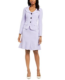 Flare-Hem Skirt Suit