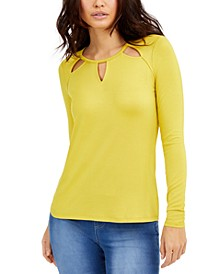 Neckline-Cutout Top, Created for Macy's