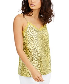 Printed Lace-Trim Camisole, Created For Macy's