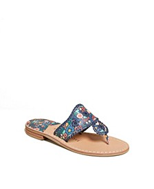 Jacks Icon Floral Flat Sandals