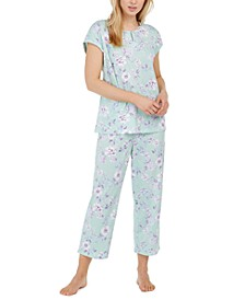 Cotton Cropped Pajama Pants Set, Created for Macy's