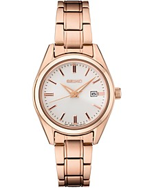 Women's Essentials Rose Gold-Tone Stainless Steel Bracelet Watch 29.8mm
