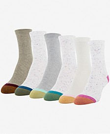 GOLDTOE® Women's 6-Pk. Lola Nep Rib Short Crew Socks
