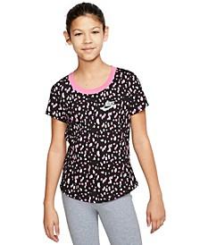 Big Girls Cotton Printed T-shirt