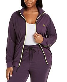 Trendy Plus Size Track Jacket