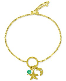 Starfish Charm Bolo Bracelet in Gold-Plate