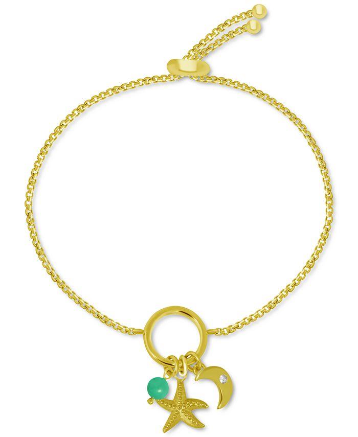 Kona Bay - Starfish Charms Bolo Bracelet in Gold-Plate