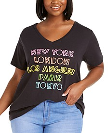 Trendy Plus Size City Screen T-Shirt