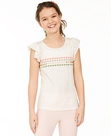 Big Girls Heart Stripes T-Shirt, Created for Macy's