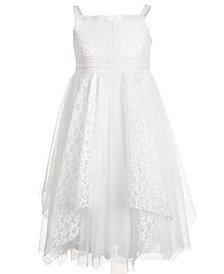 Little Girls Lace Dress with Handkerchief Hemline